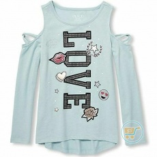 Tshirt Place Love Blue Summer Longsleeves