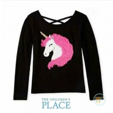 Tshirt Place Unicorn Hair Pink Sequin