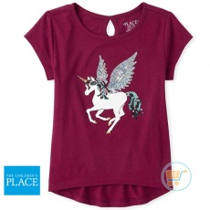 Tshirt Place Unicorn White Luxury Sequin