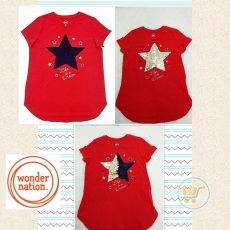 Tshirt Star Sequin Red