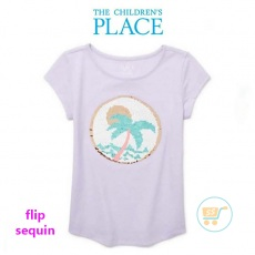 Tshirt Place coconut Flip Sequin