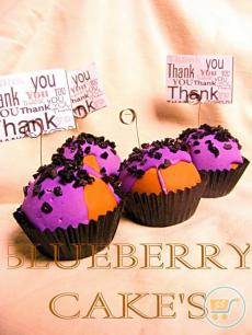 Message Holder Blueberry CupCake