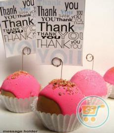 Message Holder Strawberry Cupcake