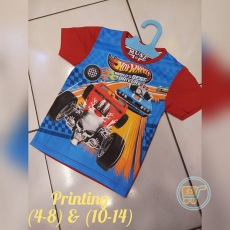 Kaos Hot Wheels World Best (Ukuran 4 - 14)