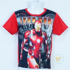 Kaos Iron Man Action (Ukuran 4 - 14)