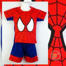 Setelan Spiderman Glitter Eyes (Ukuran 4 - 20)