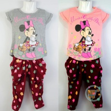 Setelan Minnie Mouse And Bear (Ukuran 2 - 6)